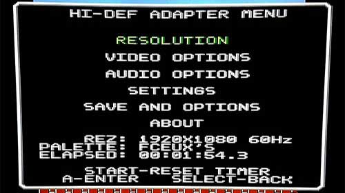 post: hidef nes menu
